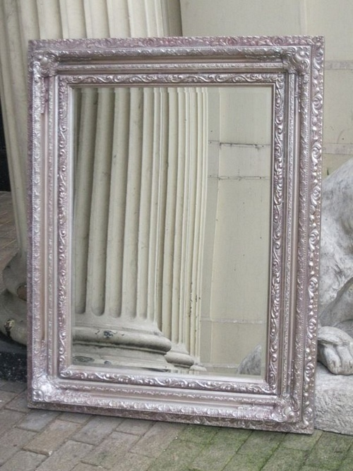 The Valencia - Antique Silver Mirror: Available in Sizes Ranging from 4Ft x 3Ft up to 6Ft x 4Ft Mirrors > Silver Mirrors