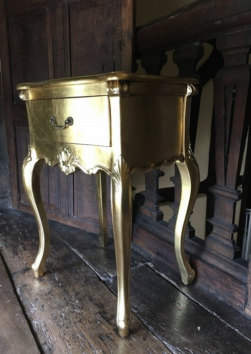The Josephine  Side Table: Gold Leaf Tables > Coffee And Side Tables