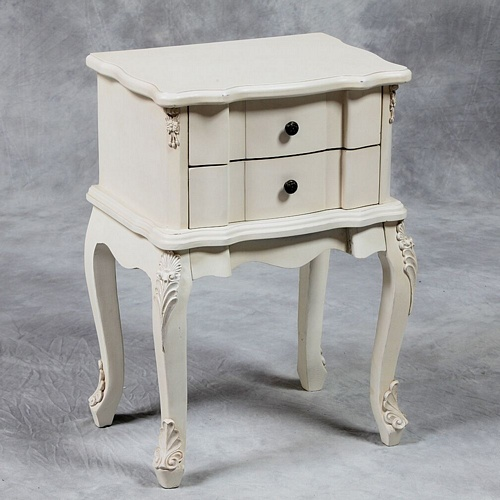 Versailles Antique White French Side Table. Tables > Coffee And Side Tables