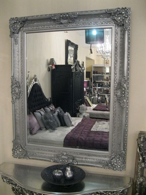 The Versace - Silver: Available in Sizes Ranging from 4Ft x 3Ft up to 7Ft x 4Ft Mirrors > Silver Mirrors