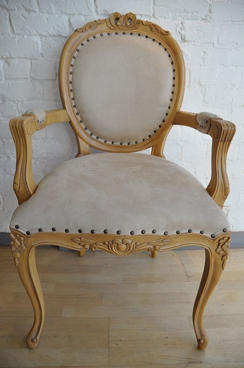 The Versailles Carver Chair - Warm Oak and Beige Seating > Chairs
