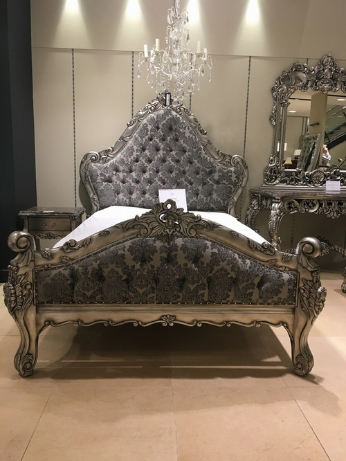 The Charles Bed - Antique Silver Beds