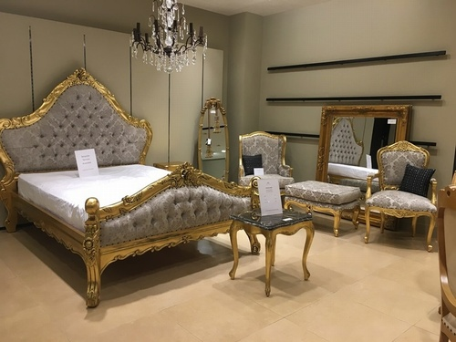The Charles Bed - Gold Leaf & Champagne Beds