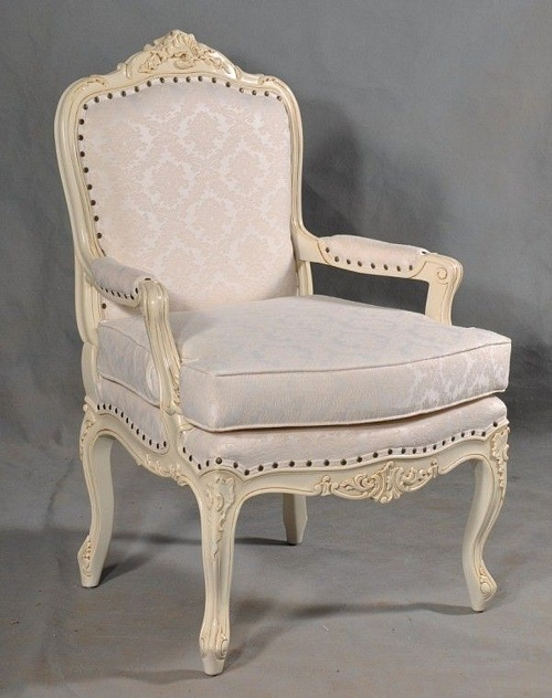 The Bergere Chair: Antique White Seating > Chairs