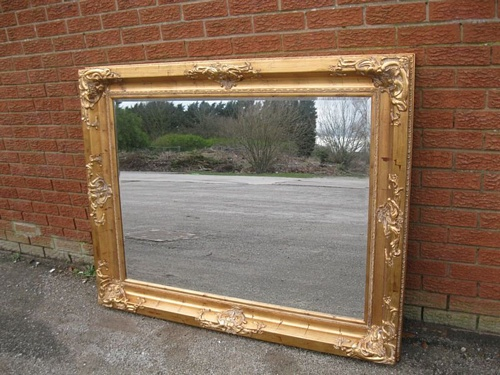 The Mayfair - Distressed Gold: Available in Sizes Ranging from 4Ft x 3Ft up to 7Ft x 4Ft Mirrors > Gold Mirrors