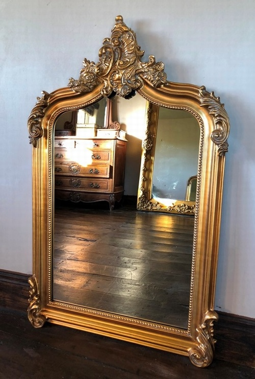 The Annecy Mirror - Antique Gold 4FT High Mirrors > Gold Mirrors