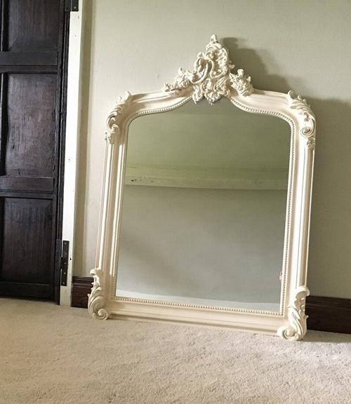 The Annecy Mirror: Antique White Mirrors > White Mirrors