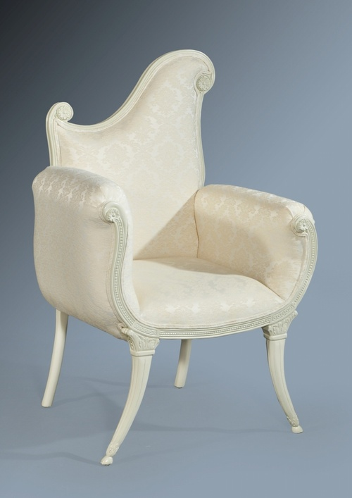 The Florence Chair: French White Seating > Chairs