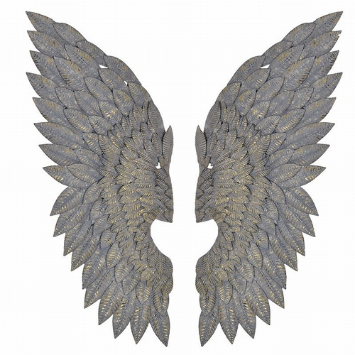 Pair of Feather Effect Wings Decorative > Wall Art
