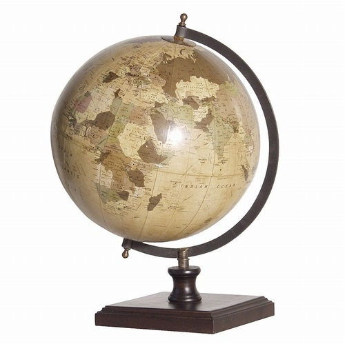 World Globe on Wooden Base Office > Desks