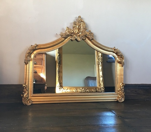 The Annecy Small Over Mantle Antique Gold 189 00 Mirrors Gold Mirrors Chateau Luxury Furniture And Mirrors Rococo Reproduction Antique Baroque And French Style Specialist
