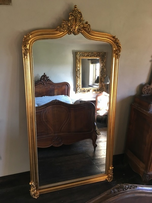 The Annecy Mirror Antique Gold 6ft, Gold Baroque Mirrors Uk