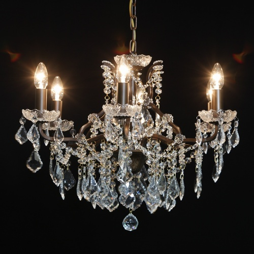 The Toulouse:Bronze 6 Branch Shallow Chandelier Lighting > Chandeliers