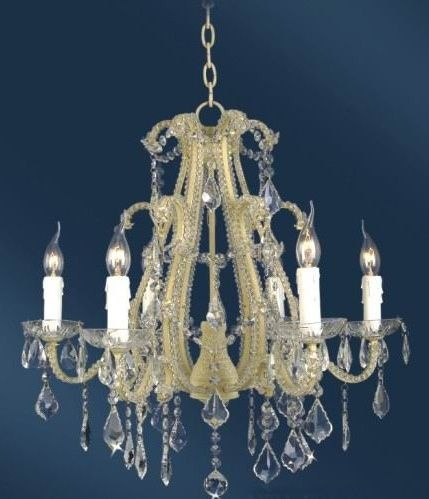 The Cannes: White 6 Branch Crystal Chandelier Lighting > Chandeliers