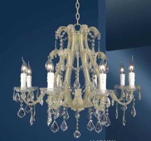 The Cannes: White 8 Branch Crystal Chandelier Lighting > Chandeliers