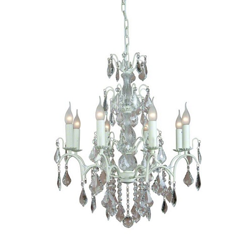 The Marseilles: 8 Branch Antique White French Chandelier Lighting > Chandeliers