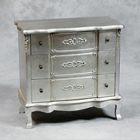 Versailles Antique Silver French Chest Of Drawers