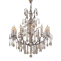 The Marseilles: Large 12 Branch Chrome French Chandelier