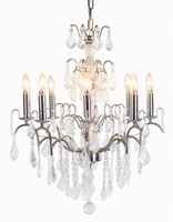 The Marseilles: 8 Branch Chrome French Chandelier