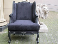 The Wingback Chair: Matt Black & Black Velvet