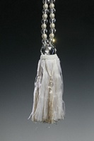 Ivory Crystal Beaded Tieback