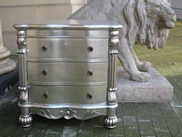 The Large Chateau Side Chest: Silver Leaf