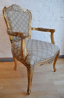 The Grand Louis Chair - Antique Gold & Regina