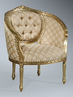 The Single Loveseat: Antique Gold Leaf & Sesame