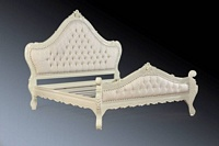 The Charles Bed - Antique White
