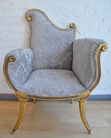 The Florence Chair: Gold Leaf