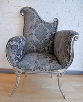 The Florence Chair: Antique Silver
