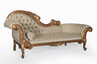 The Flower Carved Chaise Longue: Gold Leaf & Regina