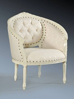 The Single Loveseat: Antique White