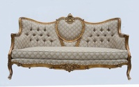 The Grand Belfort Sofa - Antique Gold & Sesame