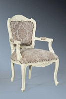 The Grand Louis Chair - Antique White & Champagne