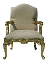 The Grand Rococo Chair: Gold Leaf