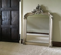 The Annecy Mirror: Antique Silver - 4FT High