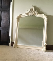 The Annecy Mirror:4Ft High- French Ivory/Cream