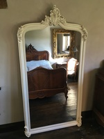 The Annecy Mirror: Antique White H- 213cm x W- 114cm