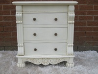 The Large Chateau Side Chest: Antique White