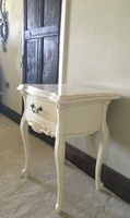 The Charles Side Table: French White & Cream Double Marble