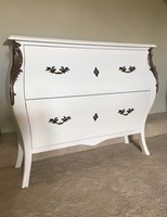The Large Serpentine Chest: French White