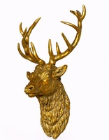 Large Antique Gold Stag Wall Head
