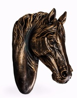 Antique Bronze Effect Large Horse Wall Head