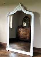 The Annecy Large Over mantle Mirror- Antique Ivory