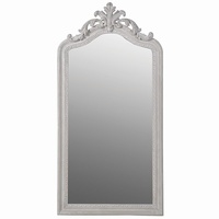 Tall Classical Scroll Mirror: Stone Grey