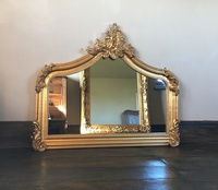 The Annecy: Small Over Mantle - Antique Gold