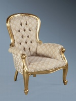 The Grandfather Chair: Antique Gold Leaf & Regina Sesame.