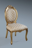 The Versailles Chair :Antique Gold Leaf w/ Sesame Regina.