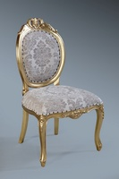 The Versailles Chair :Gold Leaf w/ Champagne Damask.